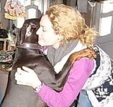 Marie Christine Giuliani mit Brownie Doberman